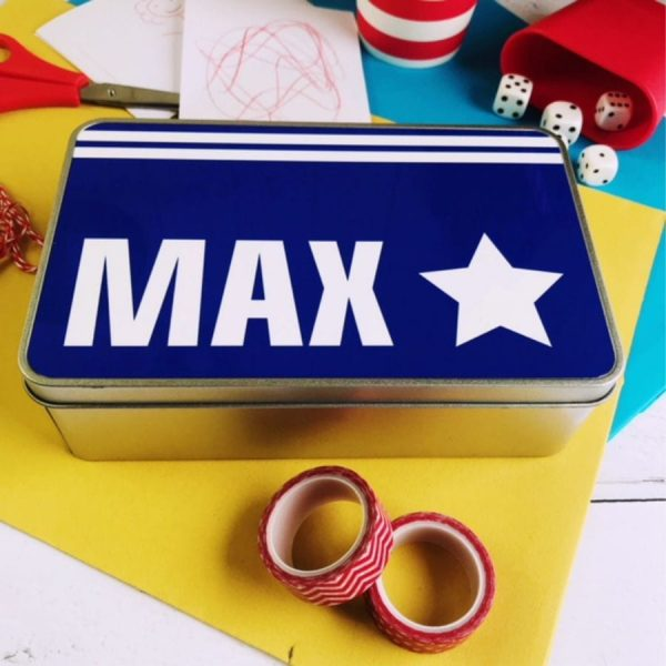 personalised tin box