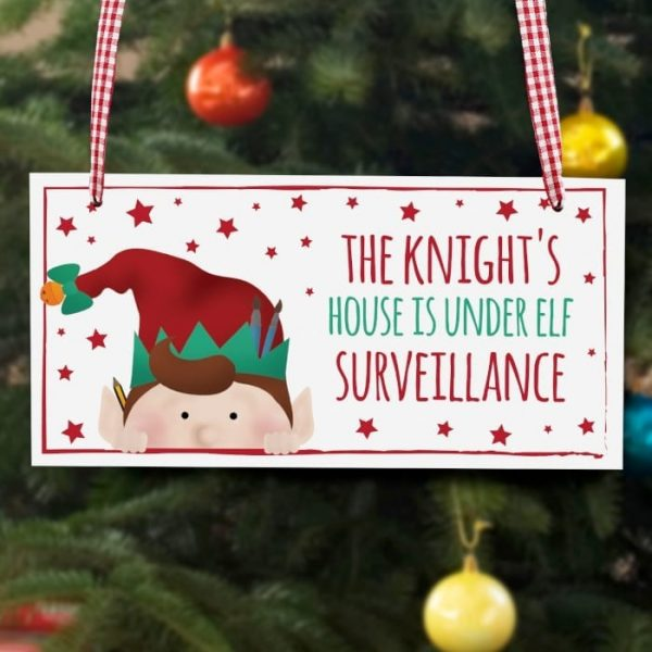 Personalised Elf Sign