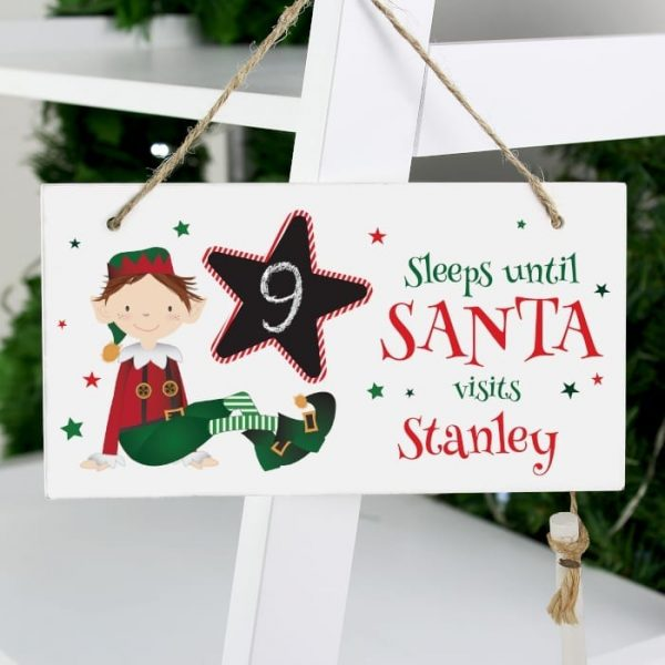 Personalised Elf Countdown Sign